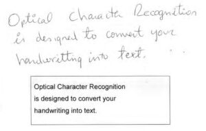 Optical Character Recognition for handwriting