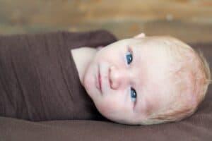 Temporary pediatric strabismus in newborn baby