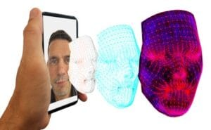 Facial recognition with 3D